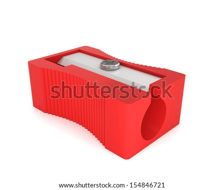 Pencil sharpener isolated on white background