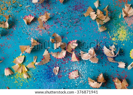 Pencil shavings background - stock photo