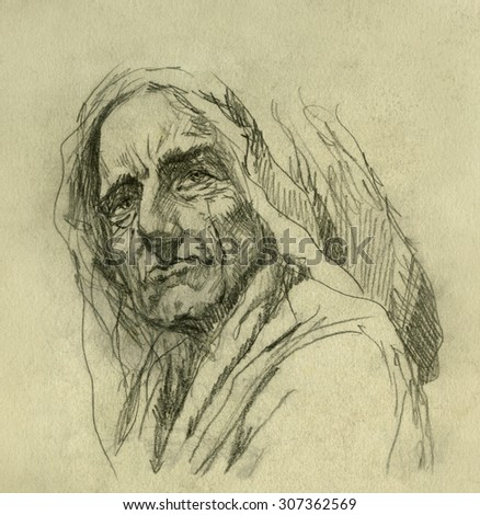Pencil sketch - stock photo
