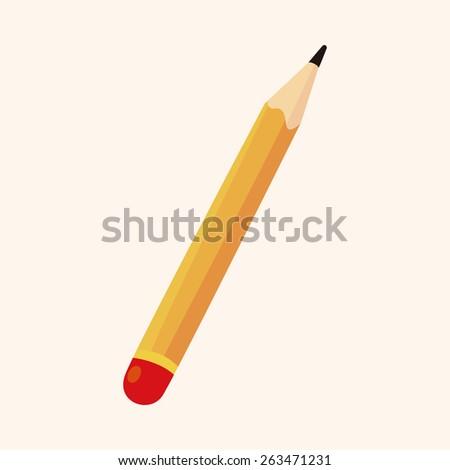 pencil theme elements - stock photo