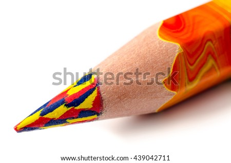 pencil tip isolated on a white background - stock photo