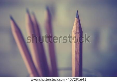 pencil. Vintage filter. - stock photo