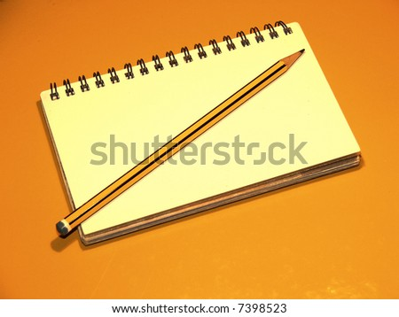 Pencil with Paper 1 - stock photo