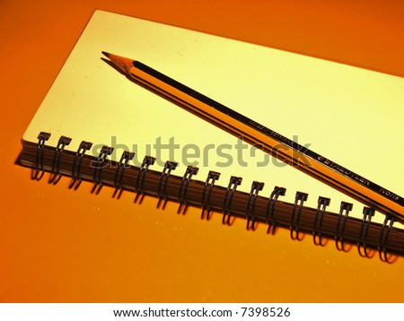 Pencil with Paper 3 - stock photo