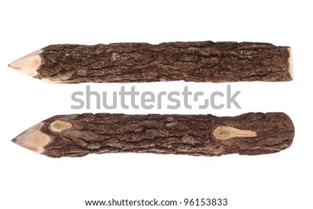 Pencil  Wood Bark - stock photo