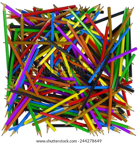 Pencils Abstract Background - stock photo