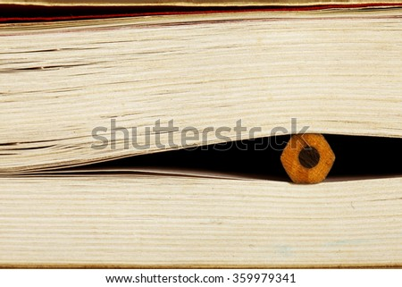 Pencils and books - stock photo