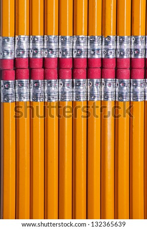 pencils and erasers