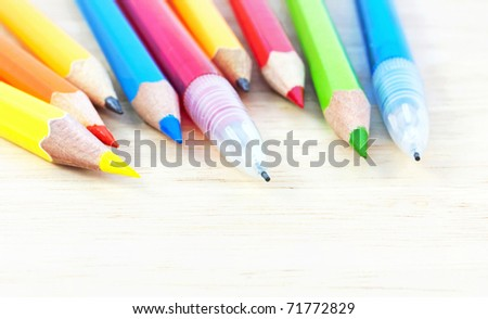Pencils close-up