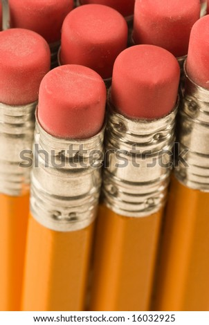 pencils close up for a background - stock photo