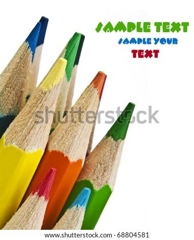 pencils closeup - stock photo