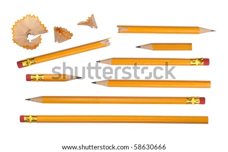 Pencils collection - stock photo