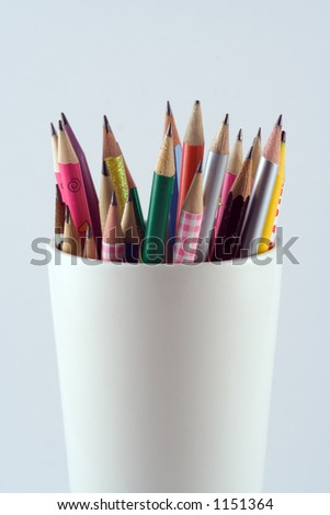Pencils held in a cup