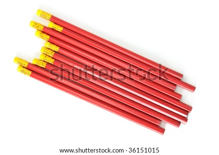 pencils isolated on a white