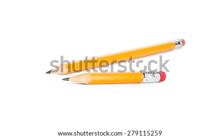 Pencils isolated on pure white background - stock photo