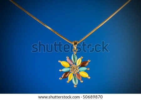 Pendant against colour gradient background