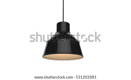 Pendant Lamp Cool Concept Design 3D Illustration