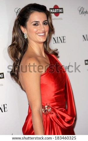 Penelope Cruz at New York Premiere of NINE, The Ziegfeld Theatre, New York, NY December 15, 2009 - stock photo