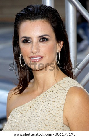 Penelope Cruz at the 2012 Los Angeles Film Festival premiere of 'To Rome With Love' held at the Regal Cinemas L.A. LIVE Stadium in Los Angeles, USA on June 14, 2012. - stock photo