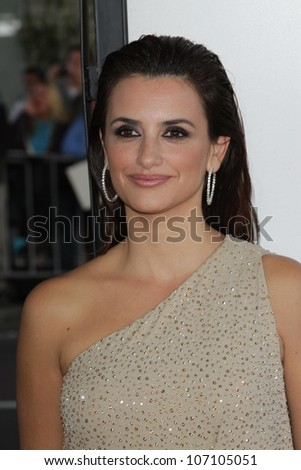 """Penelope Cruz at the """"To Rome With Love"""" Premiere as part of the 2012 Los Angeles Film Festival, Regal Cinemas, Los Angeles, CA  06-14-12 - stock photo"""