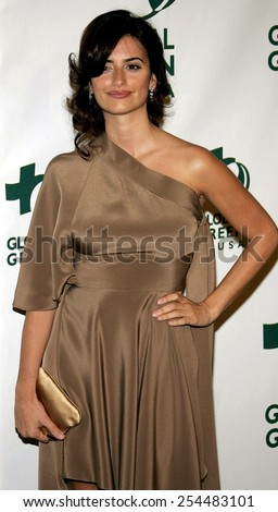 Penelope Cruz attends the Global Green USA Pre-Oscar Celebration to Benefit Global Warming held at the The Avalon in Hollywood, California on February 21, 2007.  - stock photo