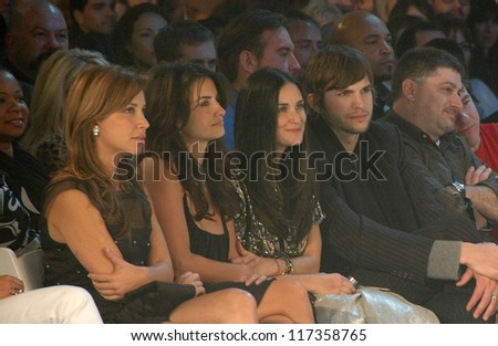 Penelope Cruz with Demi Moore and Ashton Kutcher inside at the 2006 GM TEN Fashion Show. Paramount Studios, Hollywood, CA. 02-20-07 - stock photo