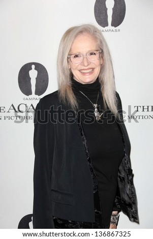 """Penelope Spheeris at the Academy Of Motion Picture Arts And Sciences Hosts A """"Wayne's World"""" Reunion,  AMPAS Samuel Goldwyn Theater, Beverly Hills, CA 04-23-13 - stock photo"""