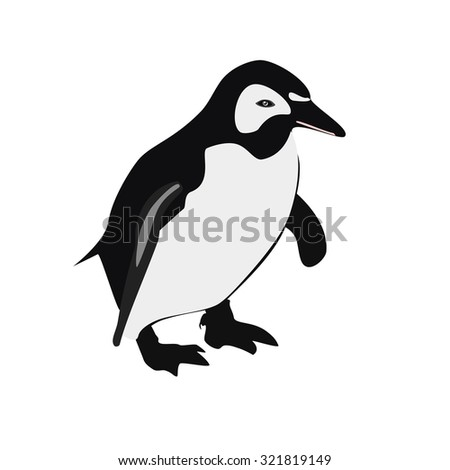 Penguin, penguin isolated,   emperor penguin, penguin raster