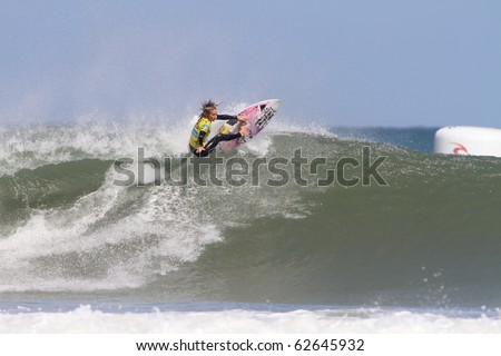 PENICHE, PORTUGAL - OCTOBER 09 :Chelsea Hedges (AUS) in Rip Curl Women's Pro Portugal, October 9, 2010 in Peniche, Portugal