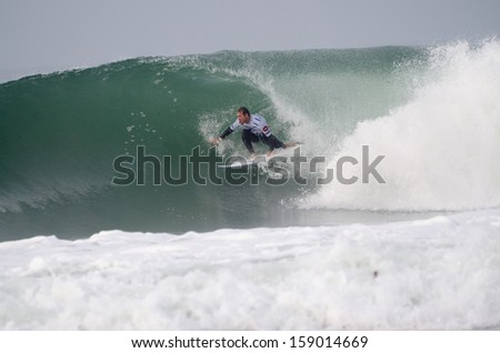 PENICHE, PORTUGAL - OCTOBER 17 : CJ Hobgood (USA) during the Rip Curl Pro Portugal, October 17, 2013 in Peniche, Portugal