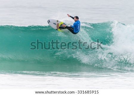 PENICHE, PORTUGAL - OCTOBER 23, 2015: Joel Parkinson (AUS) during the Moche Rip Curl Pro Portugal, Men's Samsung Galaxy Championship Tour #10.