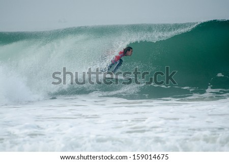PENICHE, PORTUGAL - OCTOBER 17 : Jordy Smith (ZAF) during the Rip Curl Pro Portugal, October 17, 2013 in Peniche, Portugal