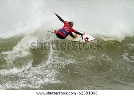 PENICHE, PORTUGAL - OCTOBER 07 :Paige Hareb (NZ) in Rip Curl Womens Pro Portugal, October 7, 2010 in Peniche, Portugal