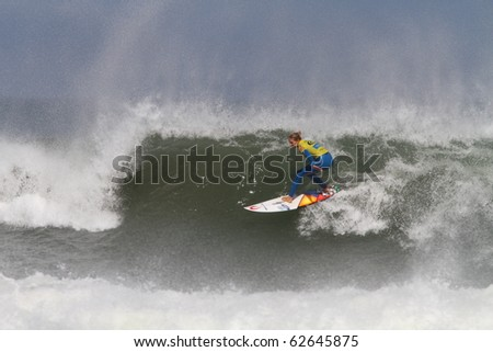 PENICHE, PORTUGAL - OCTOBER 09 :Stephanie Gilmore (AUS) in Rip Curl Women's Pro Portugal, October 9, 2010 in Peniche, Portugal