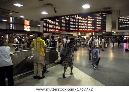 Penn Station - stock photo