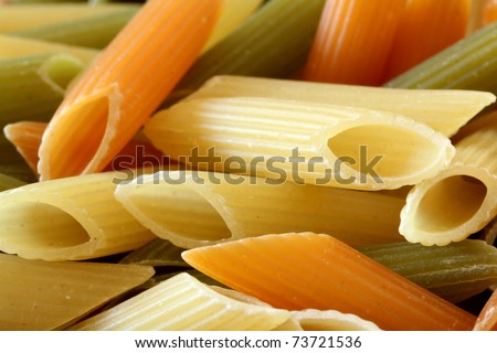 penne rigate background ,close up