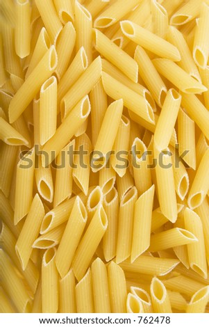 Penne Rigate pasta background texture