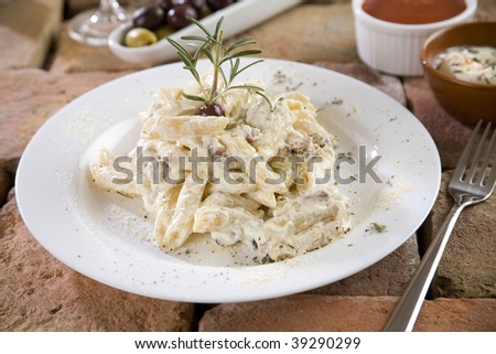 Penne with Carbonara Sauce