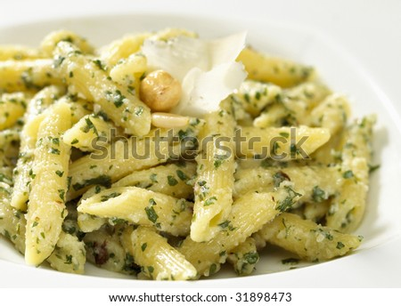 penne with nut