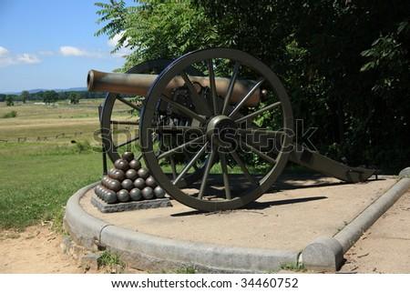 Pennsylvania Battlefield - Gettysburg - stock photo