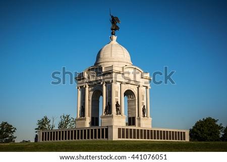 Pennsylvania Monument in Gettysburg - stock photo