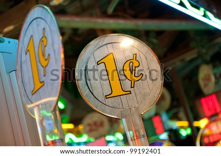 Penny Slot machines - stock photo