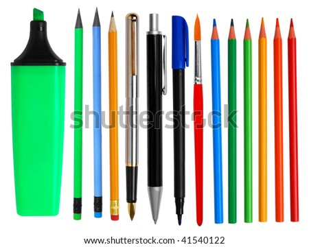 Pens and pencils - stock photo
