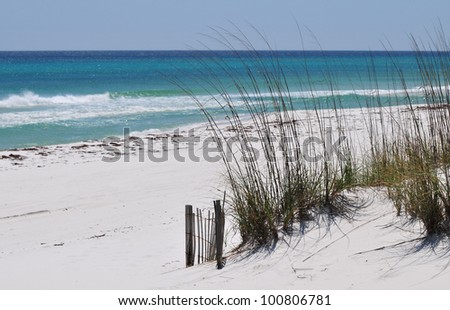 Pensacola Beach Sand Dunes - stock photo