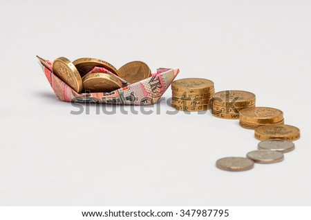 Pension Investment wealth success concept abstract boat growth  - stock photo