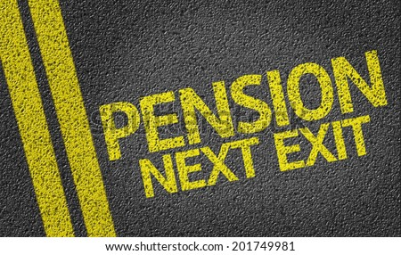Pension Next Exit written on the road - stock photo