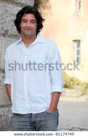 pensive man - stock photo