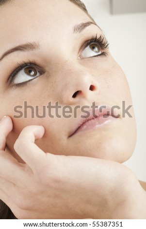 Pensive/Sad Teenage Girl - stock photo