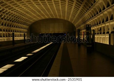 Pentagon City metro Station Washington DC - stock photo