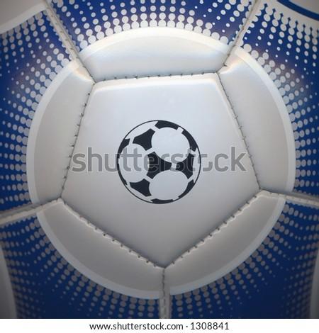 Pentagon soccer ball closeup - stock photo